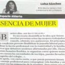ESENCIA DE MUJER. Luisa Sánchez. Artículo publicado en La Opinión