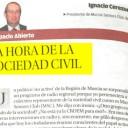 LA HORA DE LA SOCIEDAD CIVIL. Ignacio Cerezuela. Artículo publicado en La Opinión
