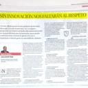 SIN INNOVACIÓN NOS FALTARÁN AL RESPETO. Juan Antonio Ruiz. Artículo publicado en La Opinión