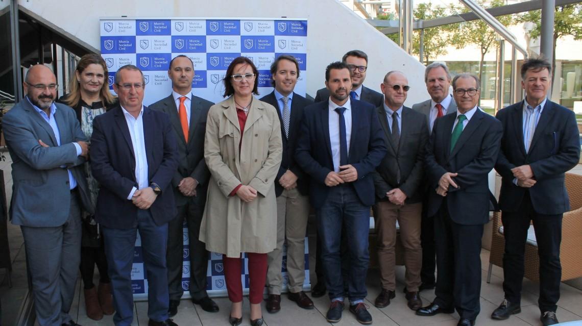Isabel Franco y Mario Gómez y Francisco Caparrós, de Cs, aseguran que el Gorgel y la ZAL de Cartagena son infraestructuras y servicios irrenunciables